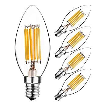 hzsane c35 e14 led bougie ampoules 6w 60w quivalent ampoules incandescence 3000k blanc. Black Bedroom Furniture Sets. Home Design Ideas