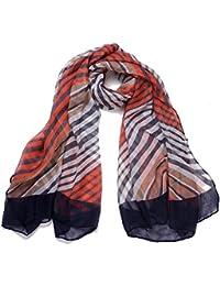 DonDon® Damen Schal mit Streifen Muster