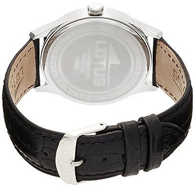 Lotus 15961/1 - Reloj de cuarzo para hombre, con correa de cuero, color negro de Lotus