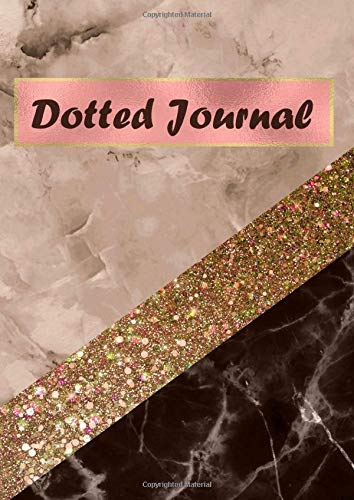 Dotted Journal: A4 Size Dot Grid Notebook - Black Rose Marble Gold Ribbon Design Cover (Executive Journal Black)