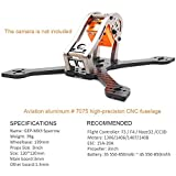 GEPRC GEP-MX3 Sparrow 139mm 3K Carbon Fiber FPV Frame True X-Type Mini FPV Racing Drone Quadcopter Frame Kit Titanium with RGB LEDs for Runcam micro swift