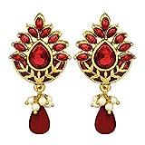 Peora Ravishing Red Enamelled Earrings F...