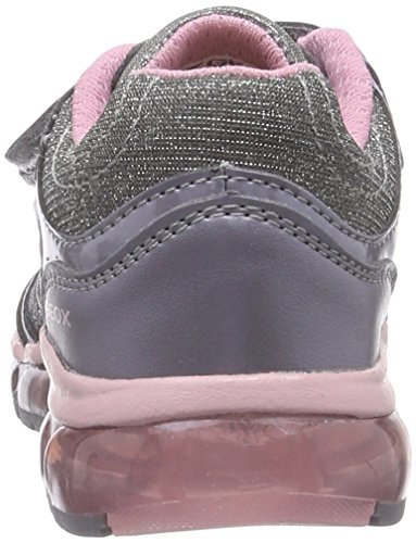 Geox J ANDROID B Mädchen Sneakers Grau (C0502GREY/PINK)