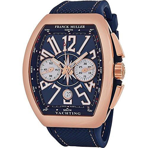 Franck Muller Vanguard Herren-Armbanduhr Blau Schweizer Automatik 45CCYACHTGLD