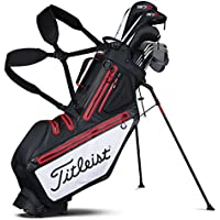 Titleist Players 5 Stadry Golf Standbag - Wasserdicht - Double to Single Gurtsystem (Schwarz)