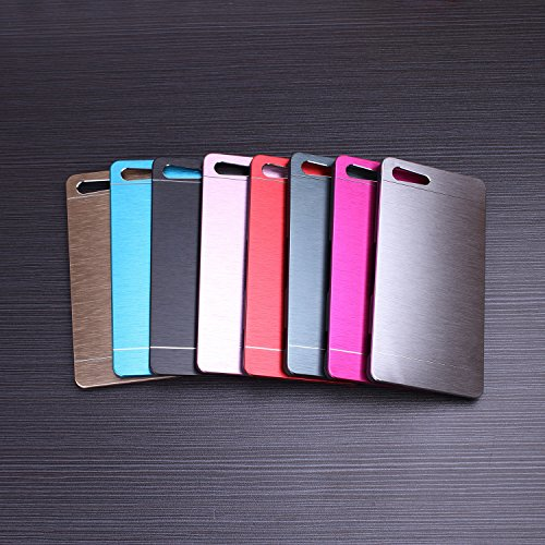 Huawei P8 h¨¹lle, Wkae® Luxus aus geb¨¹rstetem Stahl Metall Zur¨¹ck harte Fallplastikabdeckung f¨¹r Huawei P8 by Diebell(Red) schwarz