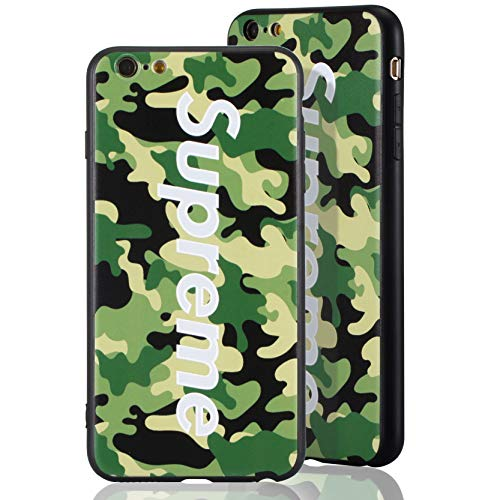 Sup Camo Case [ Kompatibel mit Apple iPhone 6, in Grün ] Supreme Hülle im Camouflage Design - Army Tarnmuster - Fühlbares 3D-Motiv
