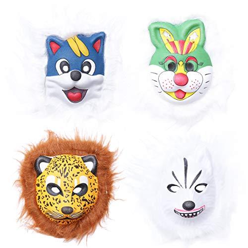 Amosfun Eva-Plüsch-Tiermuster-Masken-Horror-Halloween-Maskerade-Partei-Maske - Eva-plüsch