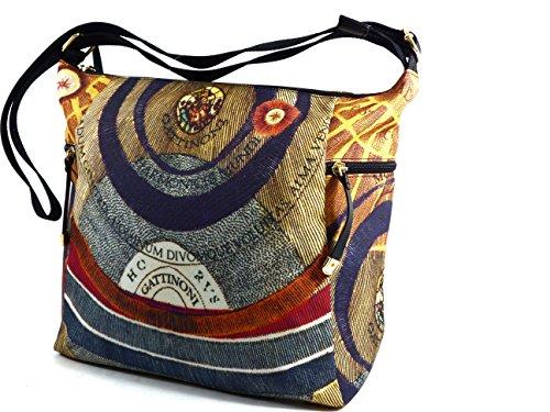 Borsa a Tracolla tessuto   Gattinoni Planetarium Soft   26 x 31 x 12 cm Multicolore