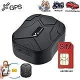 Winnes Winnes GPS Tracker mit SIM-Karte, GPS/AGPS/LBS Starker magnetischer GPS Tracker Lange Standby-Zeit Fahrzeugortung wasserdichte Echtzeit-Ortung Anti-Lost Locator mit kostenloser App TK905B