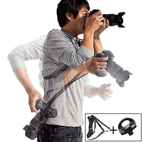 """Coolway® Kamera-Schultergurt Gewicht von 2 kg zu Widerstehen Schnelle Befestigung 1/4 """"Schraube-Schnittstelle Geschenke zu Weihnachten Kamera-Schultergurt/Trageriemen - Schwarz"""