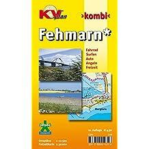 Fehmarn: 1:12.500 Ortspläne mit Inselkarte 1:30.000 inkl. Radrouten, Surf- und Angelplätzen (KVplan Schleswig-Holstein-Region / http://www.kv-plan.de/Schleswig-Holstein.html)