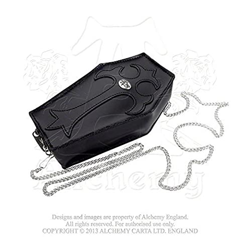 Coffin Cross Omage to the Dead Gothic Leather Purse