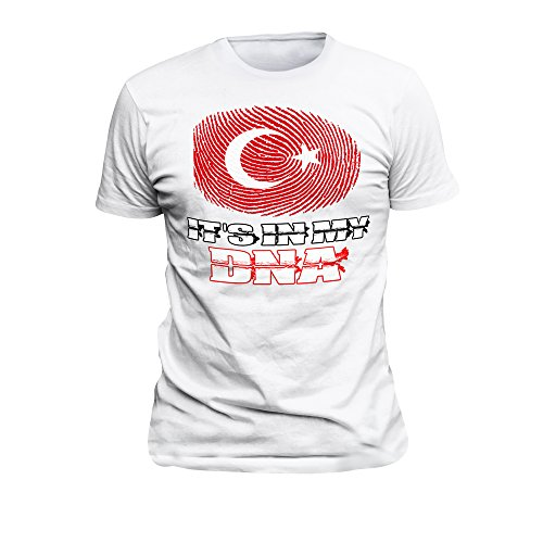 T-Shirt Türkiye,Türkei,DNA,Türkey,Galatasaray, Fenerbahce, BJK,Osmanli 88 Weiß