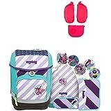 Ergobag Cubo ÜBärflieger Special Edition Schulrucksack-Set 6tlg + Seitentaschen ZIP-Set Pink