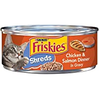 Purina Friskies Savory Shreds Chicken & Salmon Wet Cat Food, 5.50 Ounce