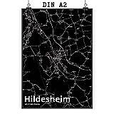 Mr. & Mrs. Panda Poster DIN A2 Stadt Hildesheim Stadt Black