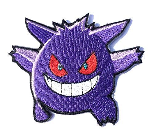 J & C Family OWNED Anwendung Pokemon Gengar Thema Cosplay Aufnäher Patch Tolles Geschenk für Partys, Dekoration. oder Sammeln.