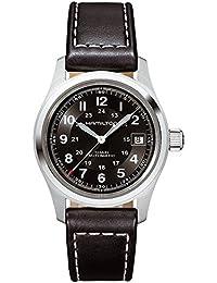 Hamilton H70455733 - Reloj para hombre, correa de cuero color negro