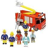Fireman Sam Moteur Friction incendie Jupiter et 5 Figure articulé Set