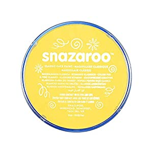 Snazaroo - Pintura facial y corporal, 18 ml, color amarillo brillante