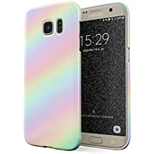 887aa9a1d95 Glitbit Funda Para Samsung Galaxy S7 Edge Case Pastel Rainbow Unicorn Colors  Ombre Pattern Holographic Tie