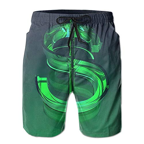 ZHIZIQIU Men's Shorts Swim Beach Trunk Summer Dollars Casual - XXL -