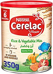 Nestle Cerelac Infant Cereals Rice & Vegetable Mix from 6 months onwards,