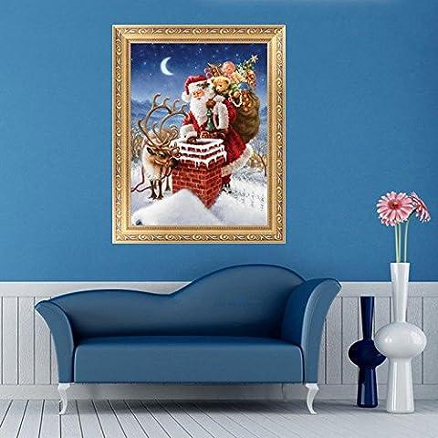 dairyshop 5D Diamant Kreuzstich Kits Malerei Santa Geschenk für Weihnachten Home Decor DIY