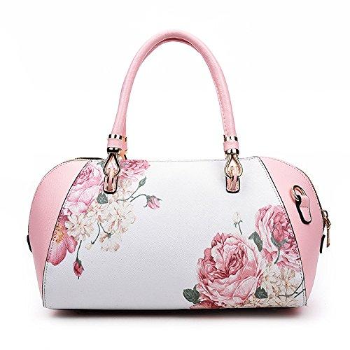 Mefly Tracolla singola cartella nuova moda Stampa Borsa Shell donne della spalla di trasporto a mano blu cielo Pink