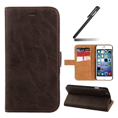 Ukayfe Custodia portafoglio   wallet   libro in pelle per Apple iphone 6  Plus 6S 7f441158616