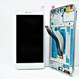 LCD Display für Huawei P8 lite 2017 mit Rahmen Touchscreen Digitizer weiß inkl. Werkzeug