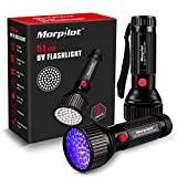 UV Lampe, Morpilot 2 St. 51 LED Schwarzlicht Taschenlampe, 395nm Ultraviolett, Detektor für unechte Banknoten, Urin und Flecke von Hund, Katze und andere Haustiere