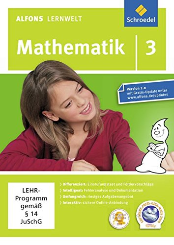 Alfons Lernwelt Lernsoftware Mathematik 3. CD-ROM