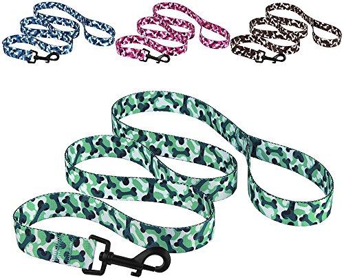 CollarDirect Camo Hund Leine Nylon, Hundeleine, Puppy Leine für Hunde, Knochen Hund Leine 5ft Klein Mittel groß, Rosa Blau Braun Mint Grün, L, Mintgrün -