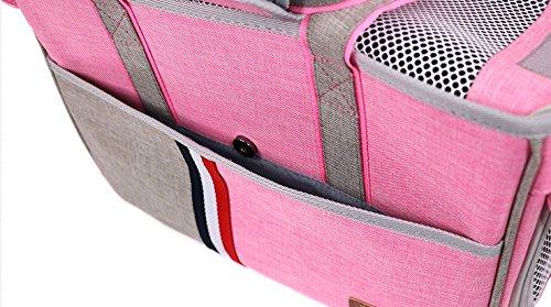 BENWEI Classics Pet Carrier,Portable Dog Cat Handbag Outdoor Soft Sided Pet Shoulder Bag Foldable Travel Tote,Under Seat… 6
