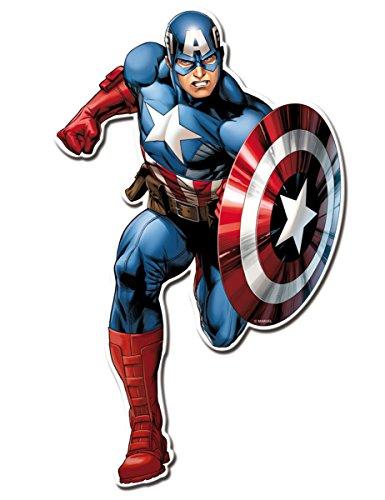 Generique - Avengers Wanddekoration Superheld 2 Stück bunt 30cm