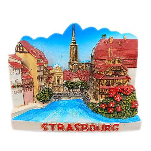 Straßburg Frankreich 3D Kühlschrank Kühlschrankmagnet Travel City Souvenir Collection Küche Dekoration Whiteboard Aufkleber Harz