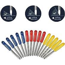 Rishil World 15pcs 30 45 60 Degree Cutter Cutting Plotter Blades for Mimaki Plotter