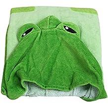 Happy Cherry Bambini Poncho con cappuccio Cartoon Bagno Telo Da Spiaggia/Asciugamano–85* 60cm–Dinosauro verde