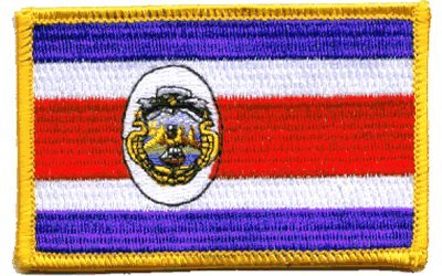 The Flag of COSTA RICA Patch parche