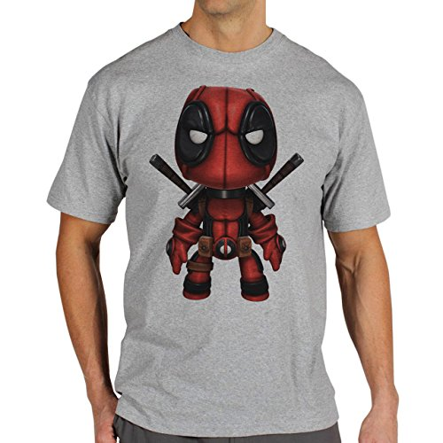 Deadpool Pose_1 Background Herren T-Shirt Grau