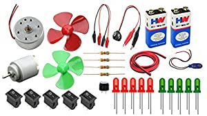 PGSA2Z Electronics 30 Items Loose Parts Materials Science Project Kit