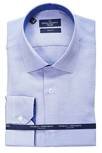 Pascal Morabito - Chemise habillée Mrt062 Marine Bleu