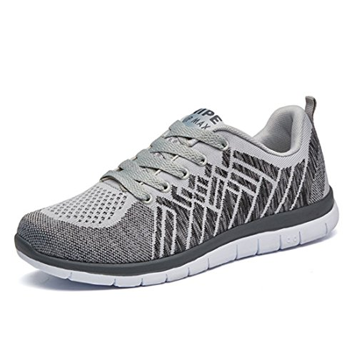 Men's Cotton Damping Breathable Outdoor Running Shoes gray