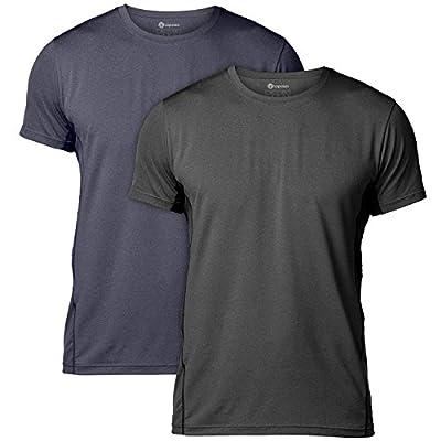 Lapasa Men's CUPRO Performance T-shirts - ADVANCED ANTI-ODOR TECHNOLOGY - Running Gym Top Wicking Sports Tee