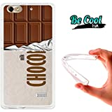 Becool® Fun - Funda Gel Flexible para Huawei G Play Mini .Carcasa TPU fabricada con la mejor Silicona, protege y se adapta a la perfección a tu Smartphone y con nuestro diseño exclusivo Tableta de chocolate