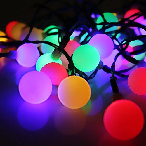 Solare Illuminazione natalizia esterno 30 led Sfere Illuminazione Balcone, Serie di Luci da Esterno Luminose Impermeabile per Festa, Natale, Matrimonio, Compleanno, Decorazione Natalizia Multicolore