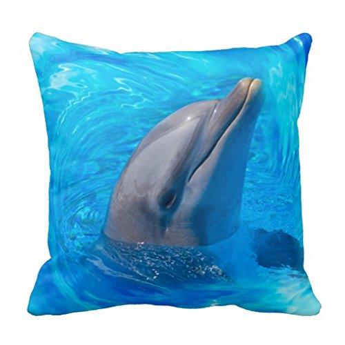 Pillow Case Design TUC GGH Generic Baumwolle Leinen Quadratisch dekorativer Überwurf-Kissenbezug Kissen Kissenbezüge für Cute Dolphin (13) 40,6x 40,6cm, cute21, 40,6 x 40,6 cm (16 x 16 Zoll) -