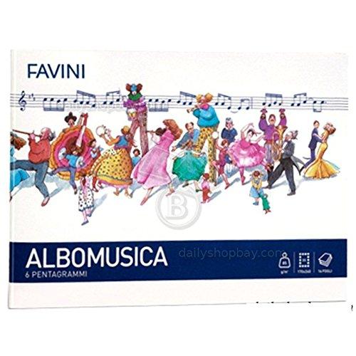 Quaderno musica pentagrammato favini 24x17 fg16